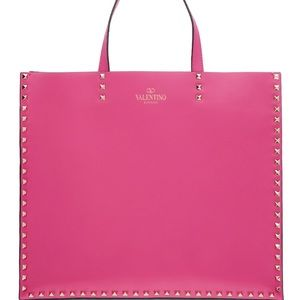 Valentino Garavani Pink Rockstud Tote Bag NWT